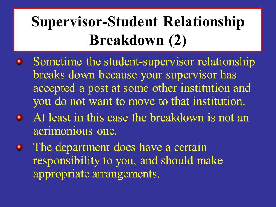 Supervisor-Student Relationship Breakdown (2)