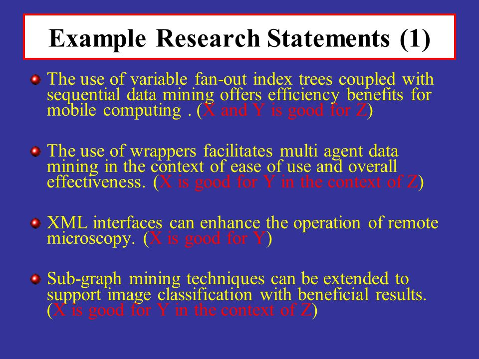 Example Research Statements (1)