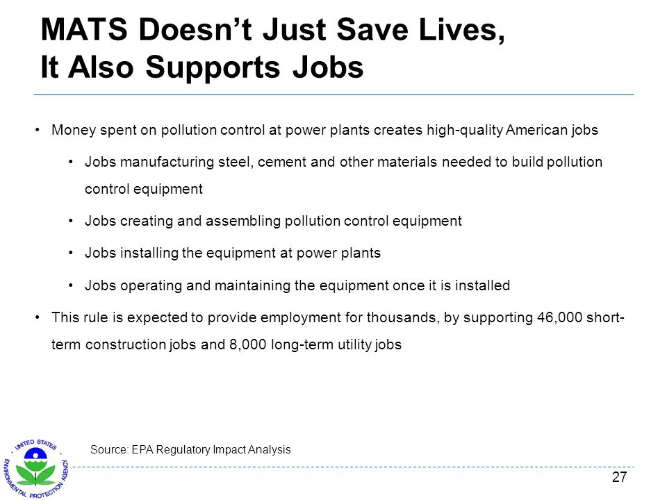 MATS Doesn't Just Save Lives, It Also Supports Jobs