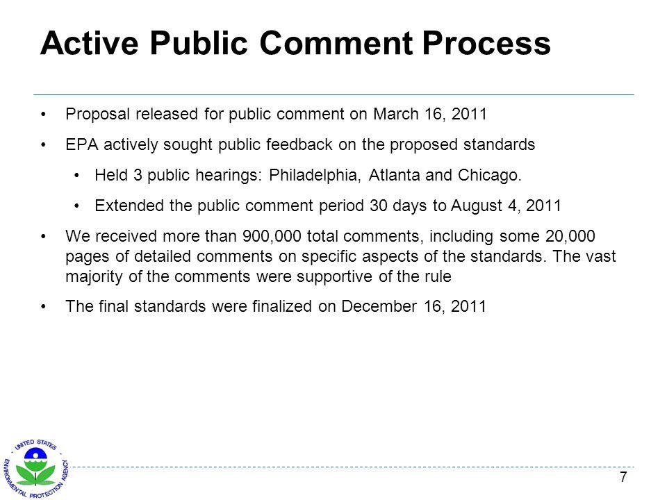 Active Public Comment Process