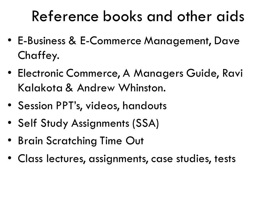 Reference books and other aids