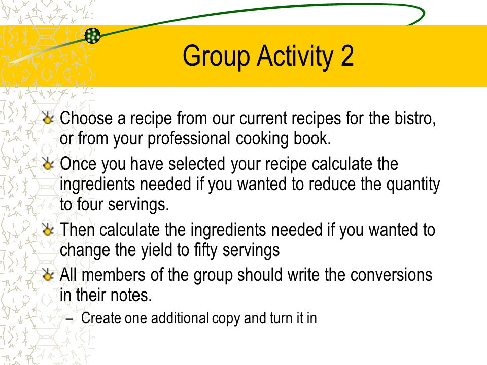 Standardized Recipes An Introduction. - ppt video online download