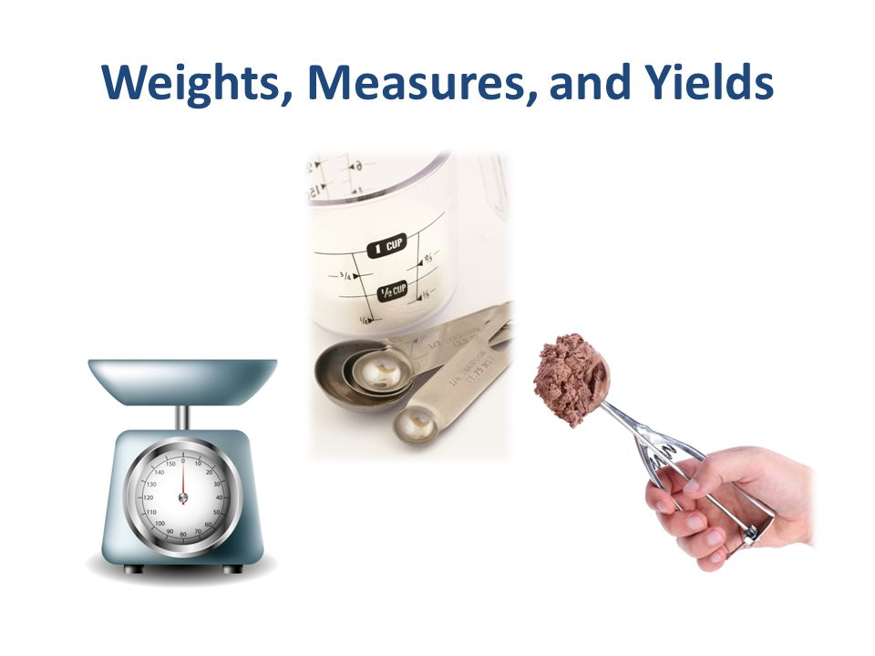 Weights, Measures, and Yields