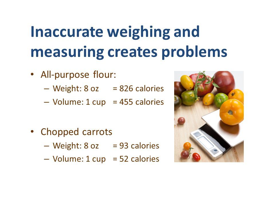 Inaccurate weighing and measuring creates problems
