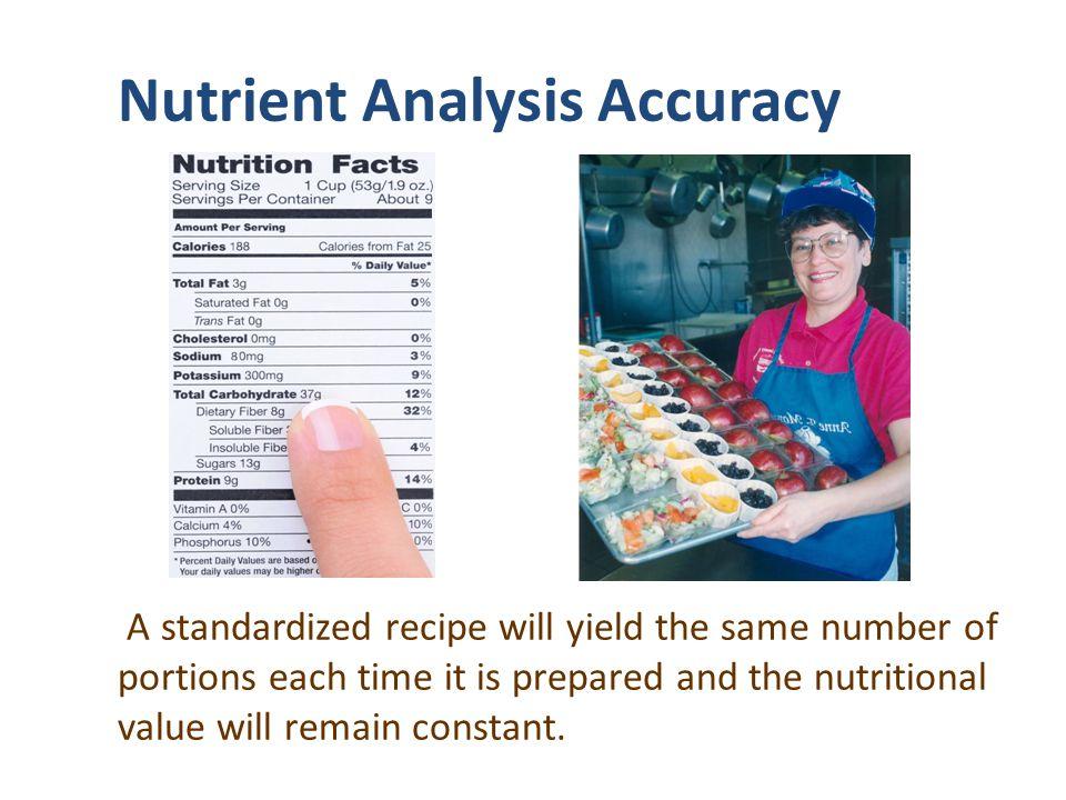 Nutrient Analysis Accuracy