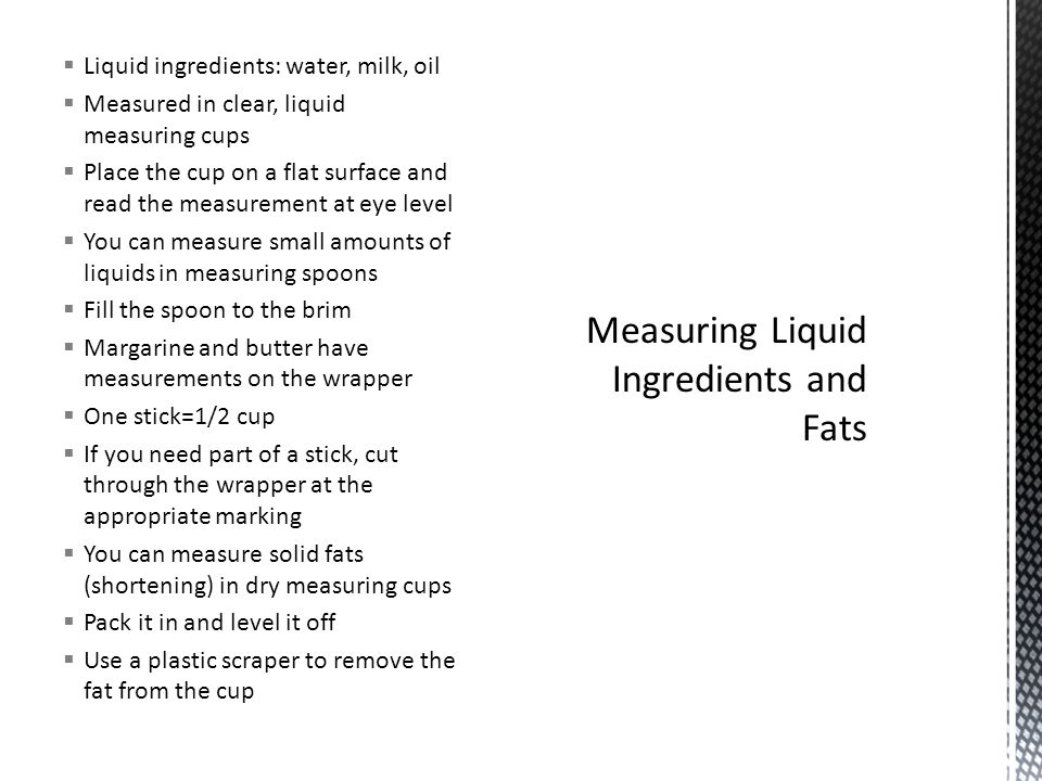 recipes and measuring ppt video online download