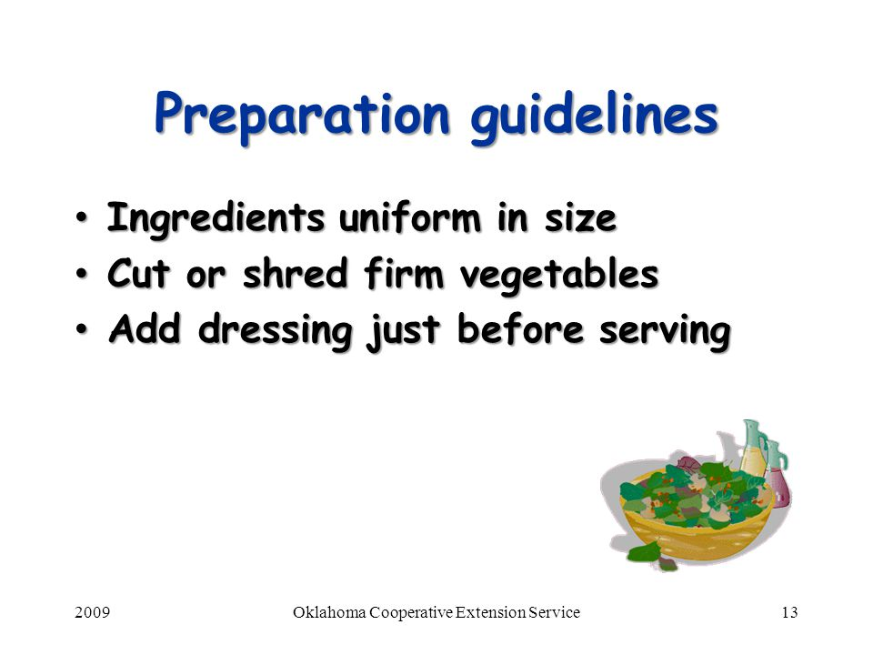 Preparation guidelines