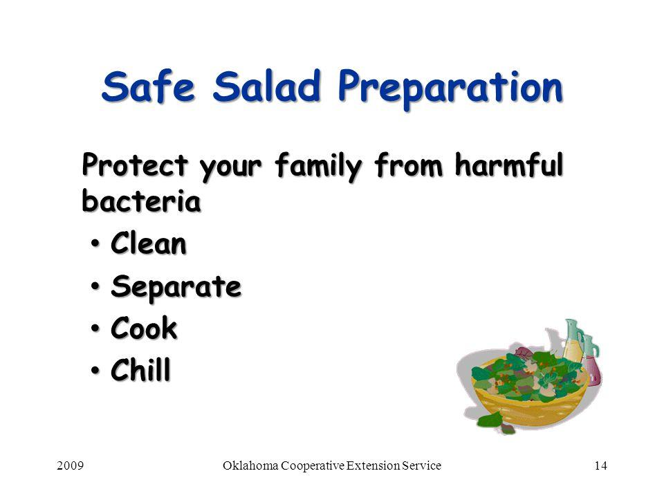 Safe Salad Preparation