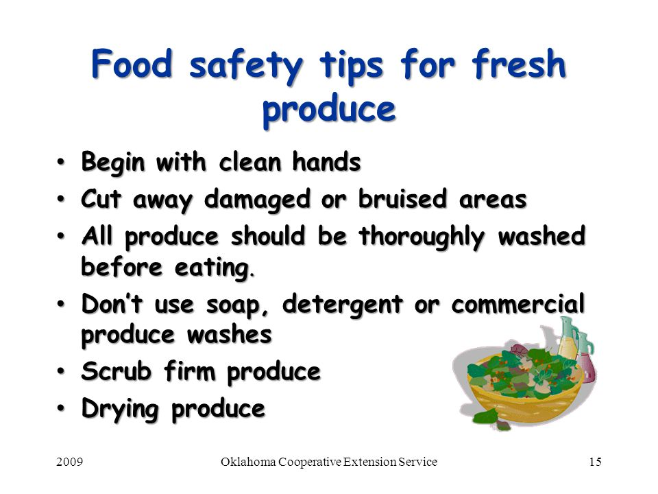 Food safety tips for fresh produce