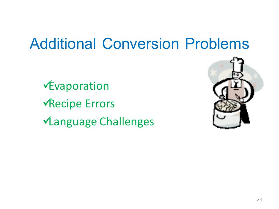 Additional Conversion Problems