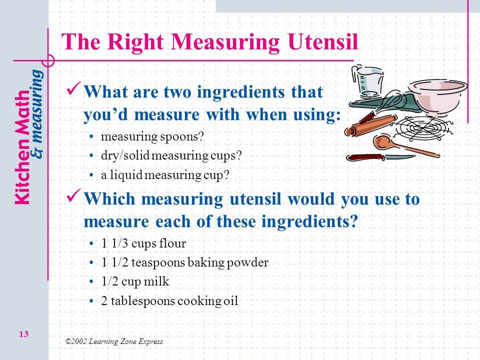 The Right Measuring Utensil