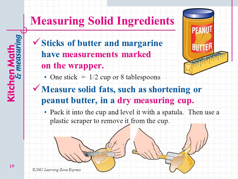Measuring Solid Ingredients
