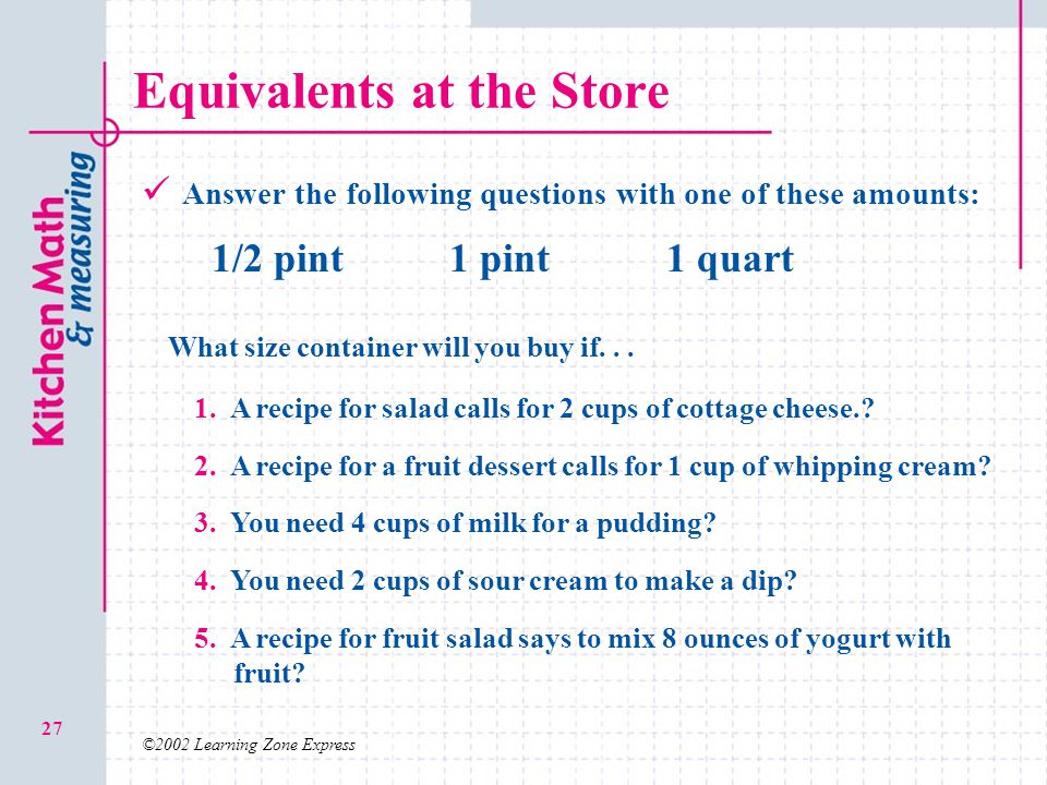 Equivalents at the Store