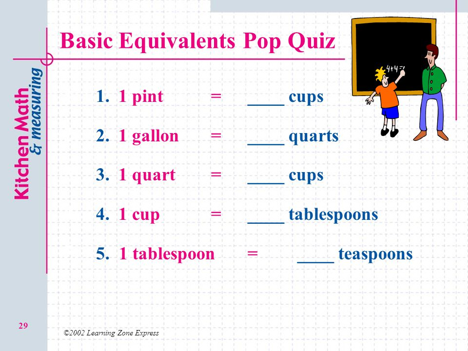 Basic Equivalents Pop Quiz