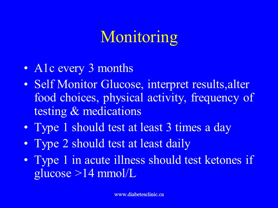 Monitoring A1c every 3 months