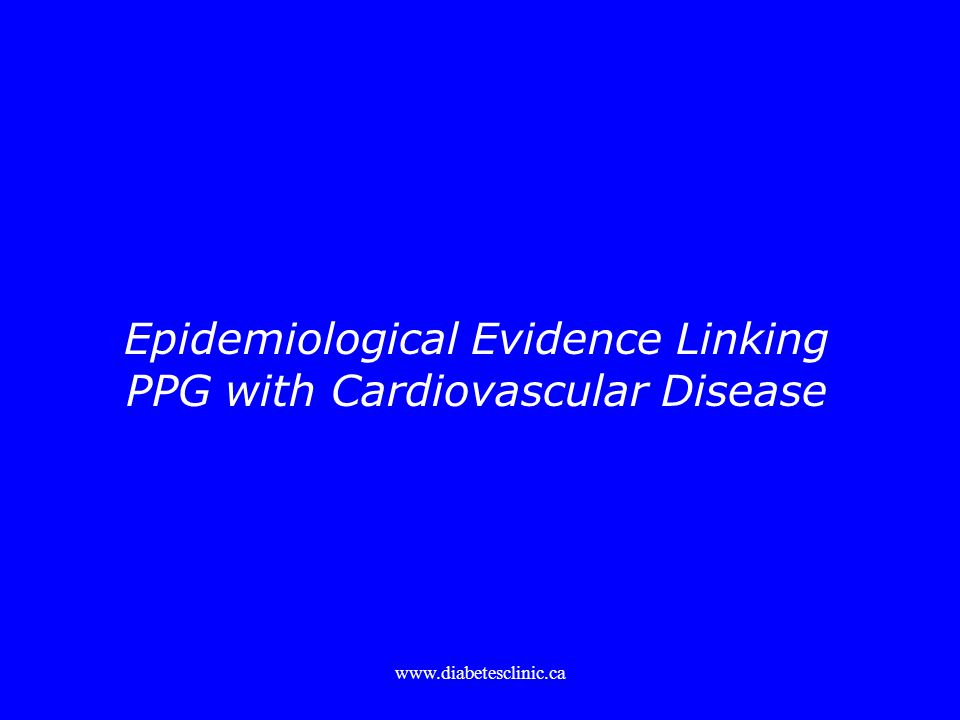 Epidemiological Evidence Linking PPG with Cardiovascular Disease