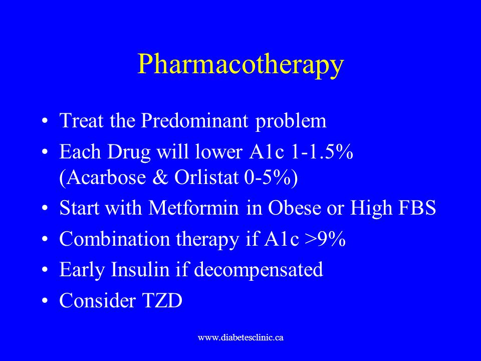 Pharmacotherapy Treat the Predominant problem