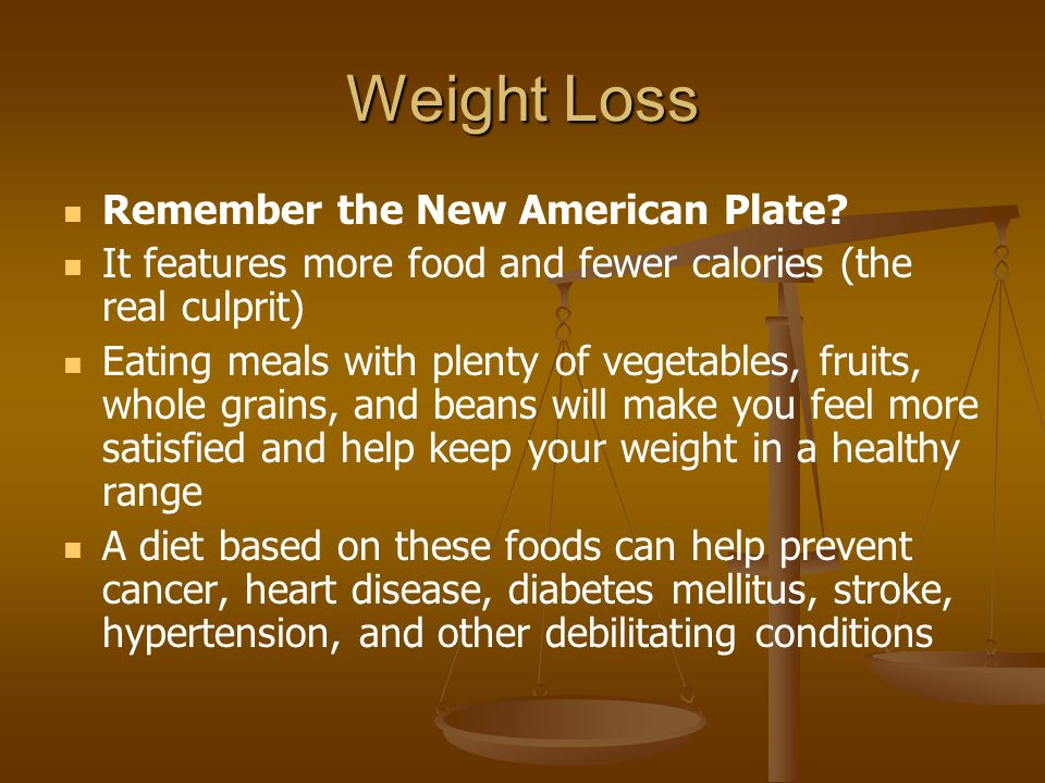 Weight Loss Remember the New American Plate