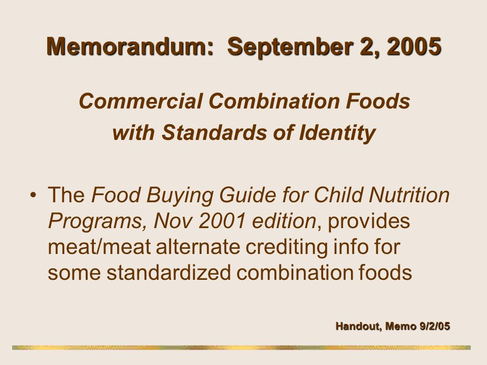 Memorandum: September 2, 2005