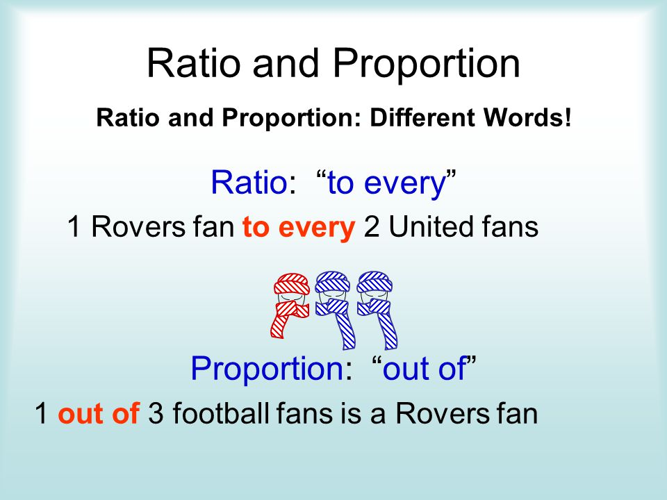 Ratio and Proportion: Different Words!