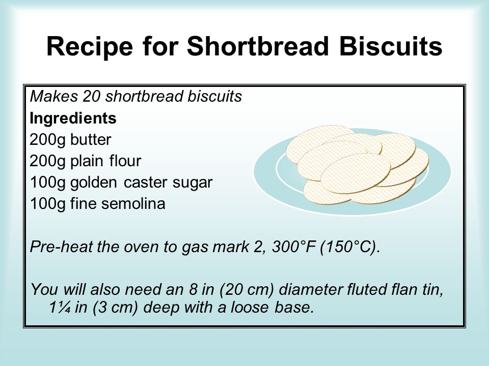 Recipe for Shortbread Biscuits
