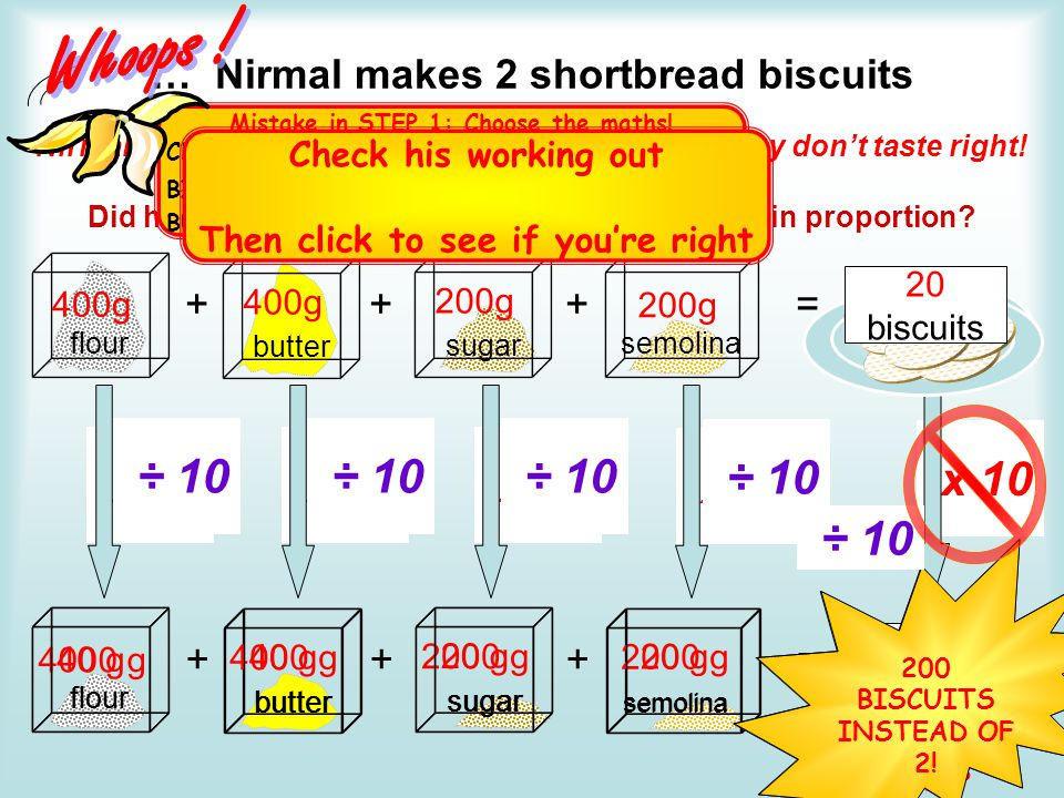 … Nirmal makes 2 shortbread biscuits