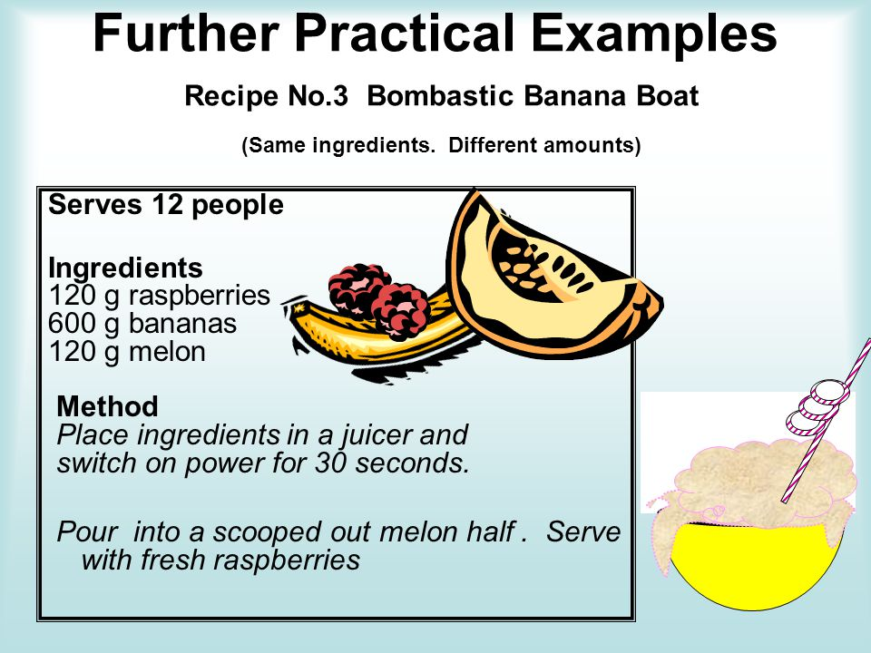 Further Practical Examples Recipe No