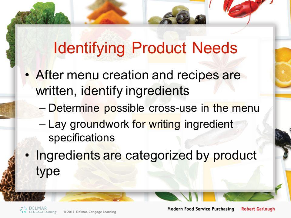 Identifying Product Needs