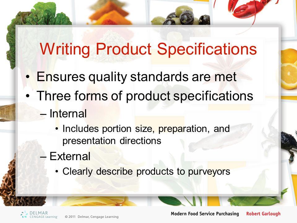 Writing Product Specifications