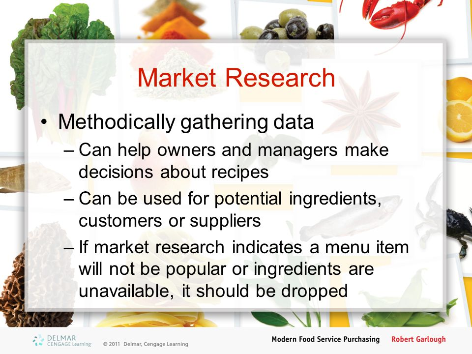 Market Research Methodically gathering data