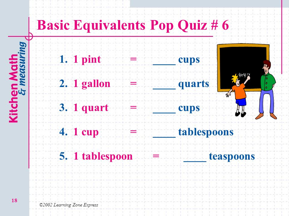 Basic Equivalents Pop Quiz # 6