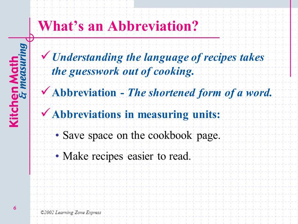 What's an Abbreviation