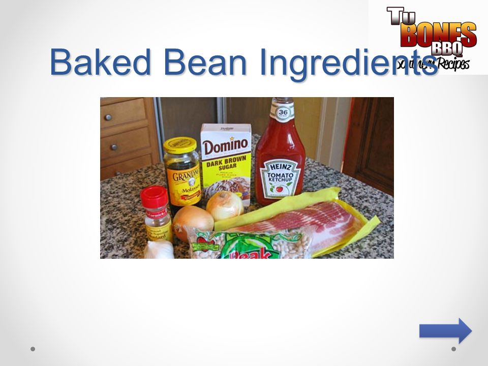 Baked Bean Ingredients
