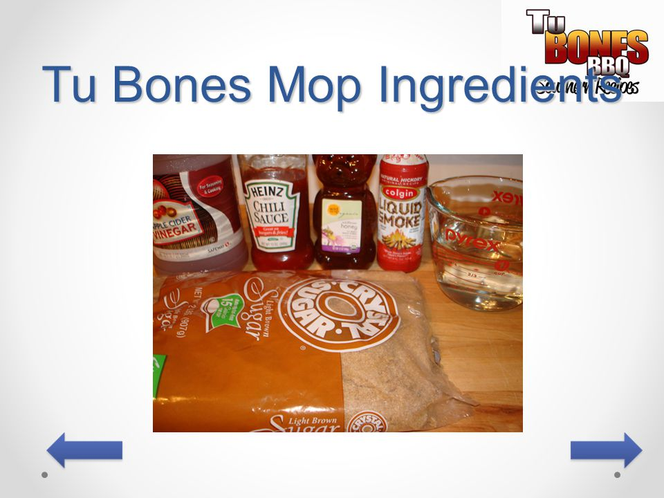 Tu Bones Mop Ingredients