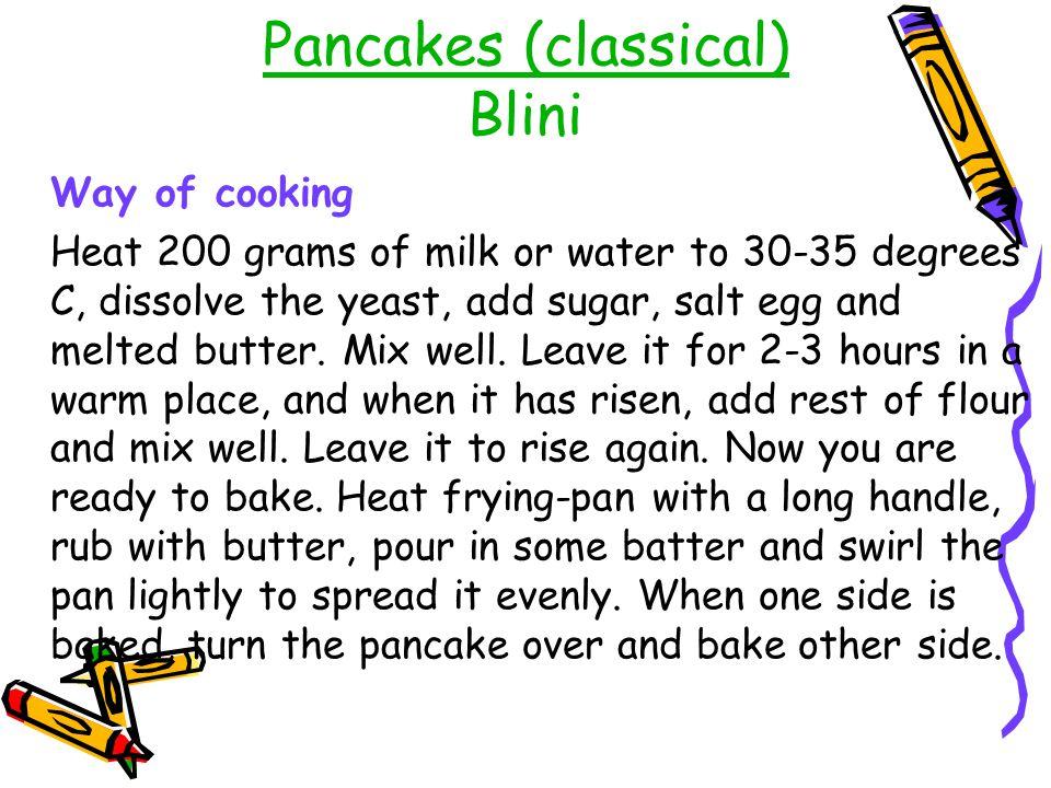 Pancakes (classical) Blini