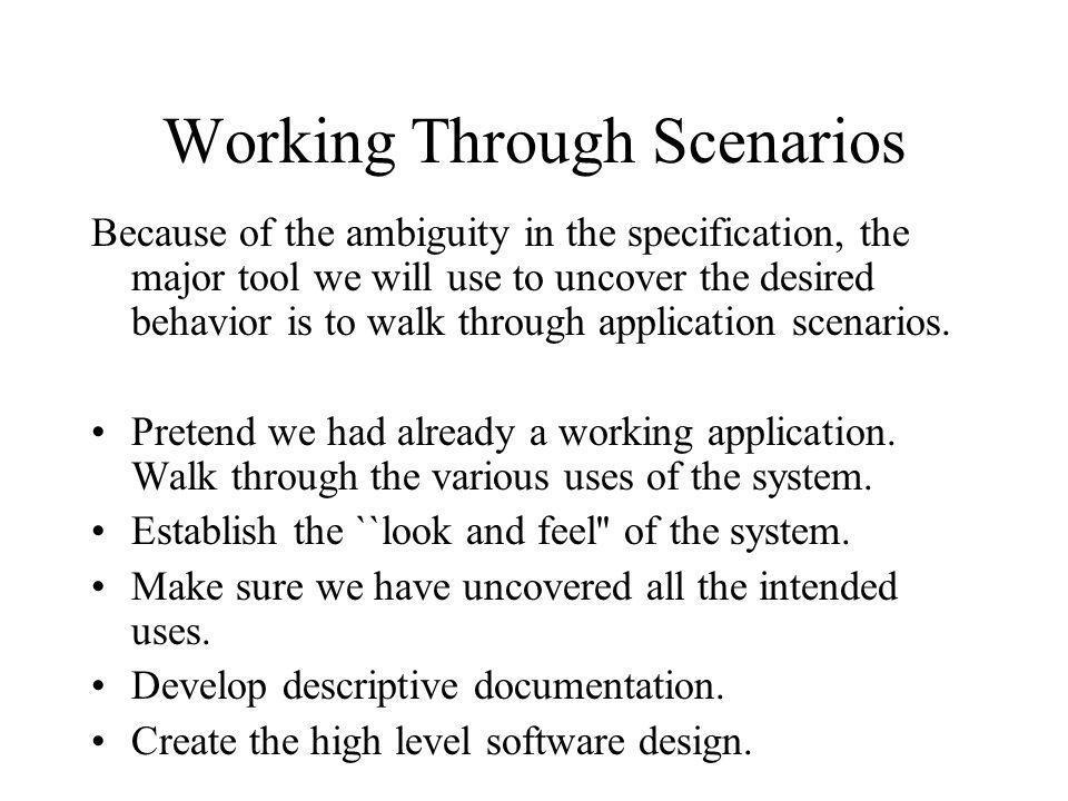 Working Through Scenarios