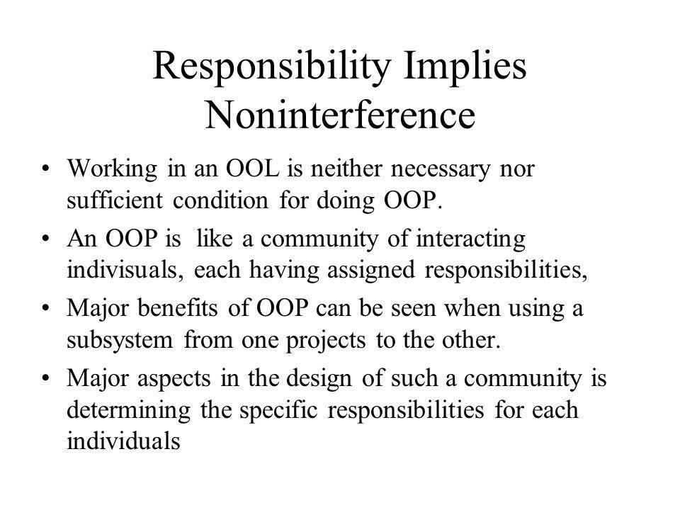 Responsibility Implies Noninterference