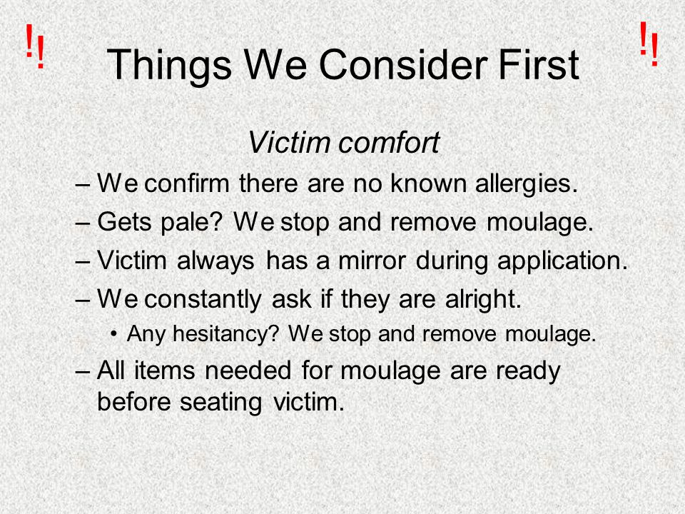 Things We Consider First