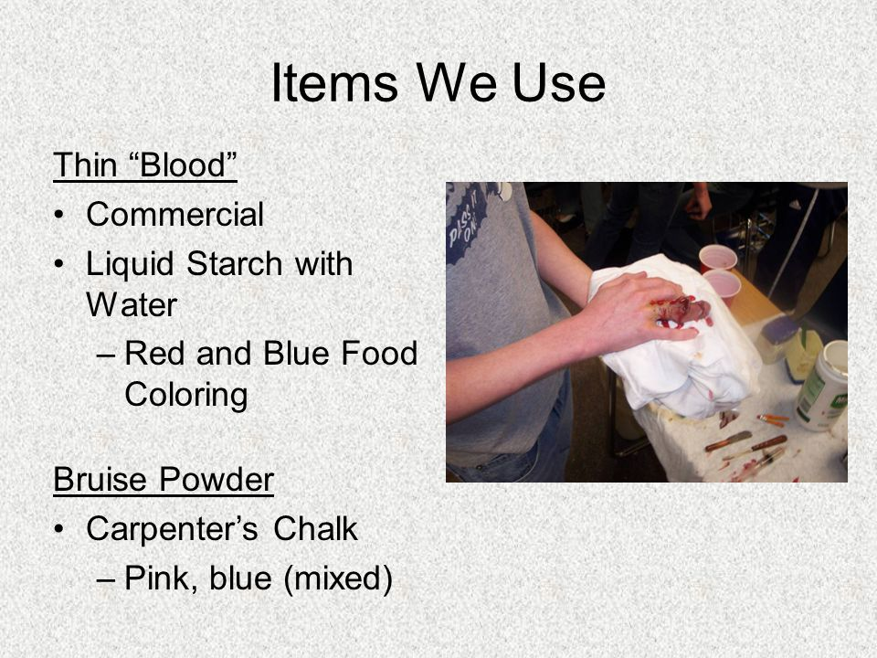 Items We Use Thin Blood Commercial Liquid Starch with Water
