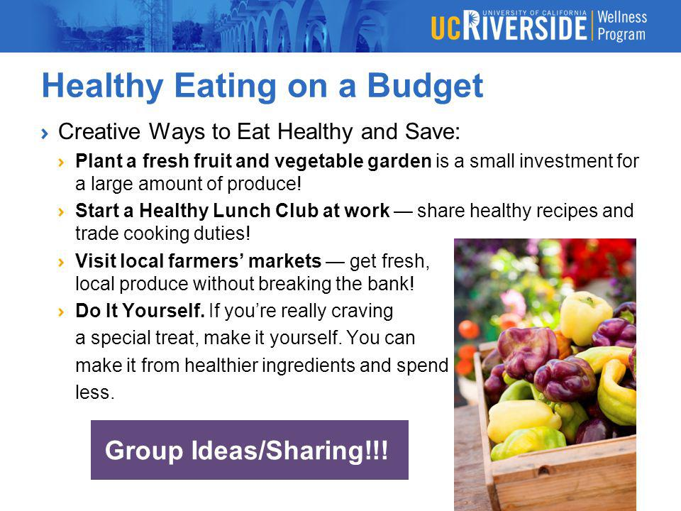 Healthy Eating And Exercise On A Budget Ppt Download