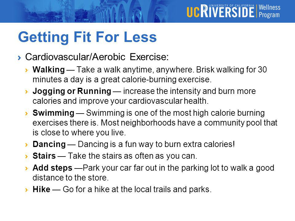 Getting Fit For Less Cardiovascular/Aerobic Exercise: