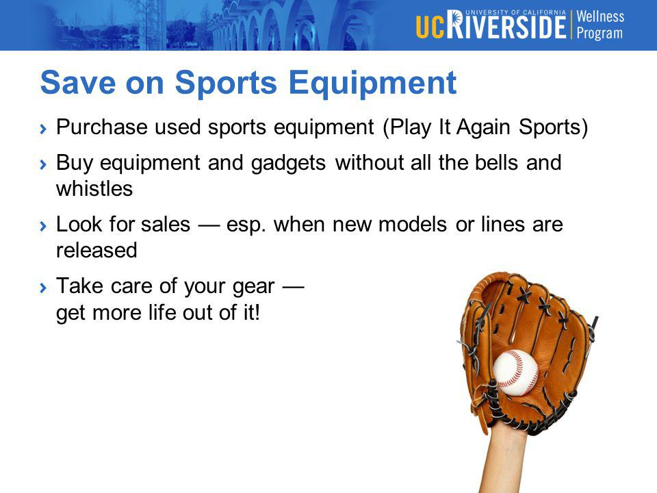 Save on Sports Equipment