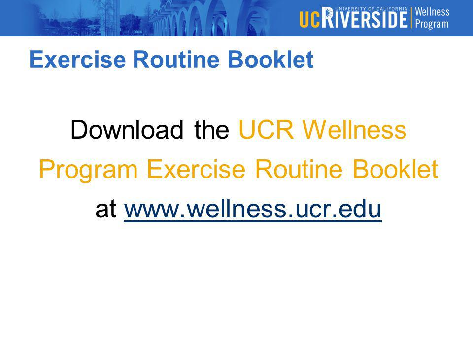 Exercise Routine Booklet