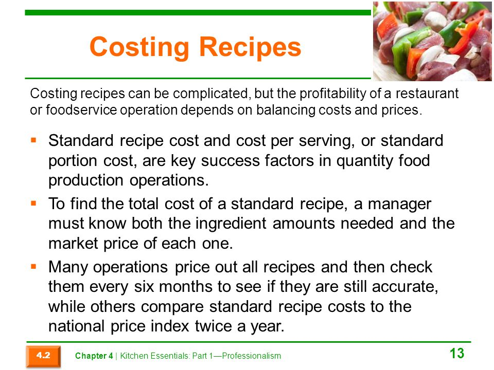 Costing Recipes