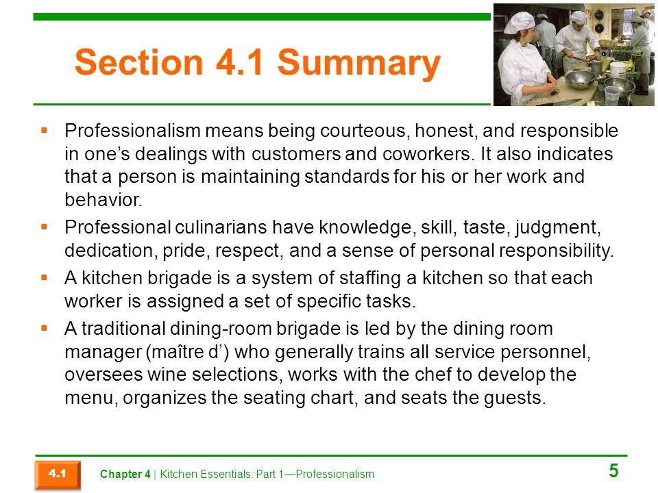 Section 4.1 Summary