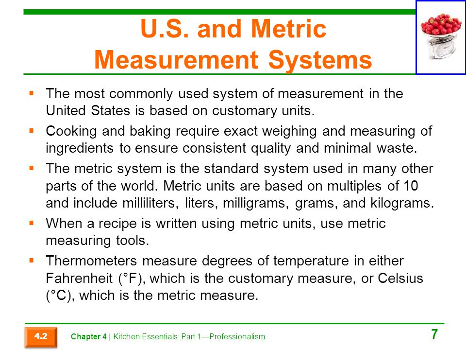 U.S. and Metric Measurement Systems