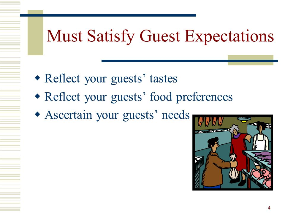 Must Satisfy Guest Expectations