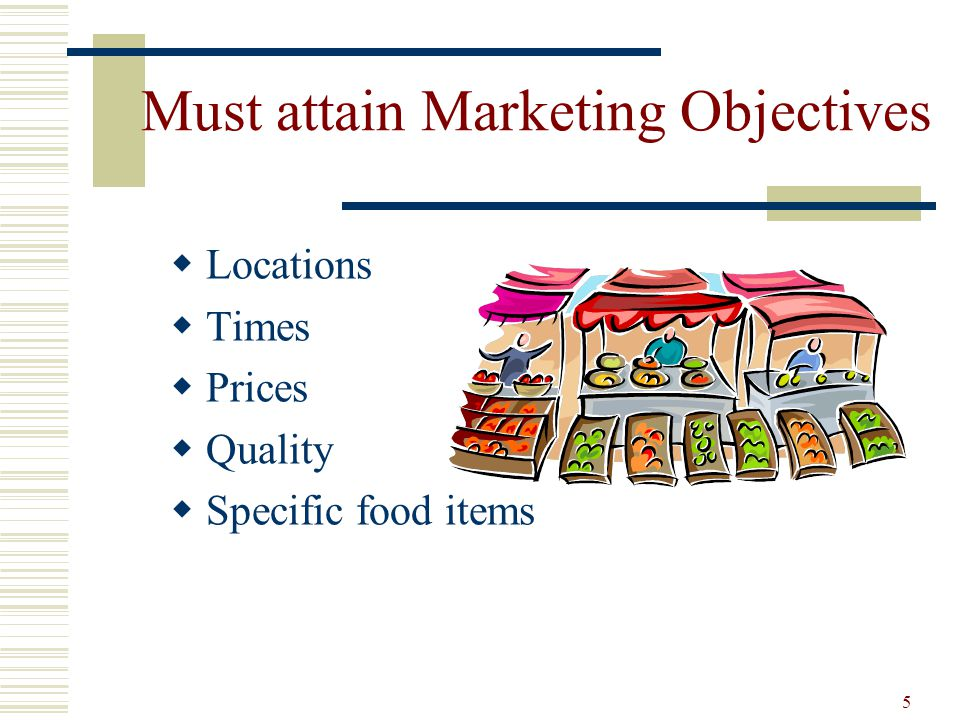 Must attain Marketing Objectives