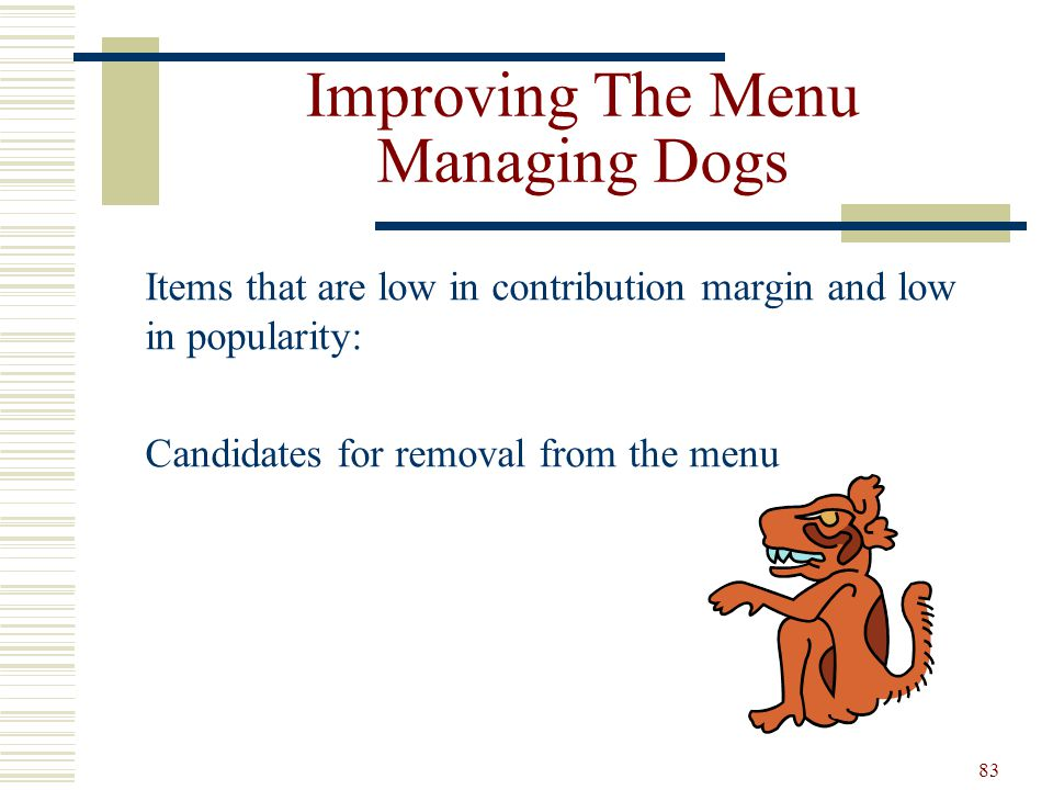 Improving The Menu Managing Dogs
