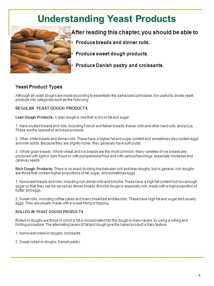 Understanding Yeast Products